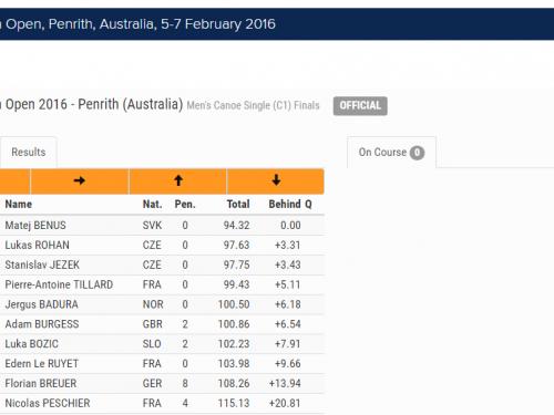 screencapture www canoeicf com results pages icf canoe slalom ranking race australian open 1462865853690
